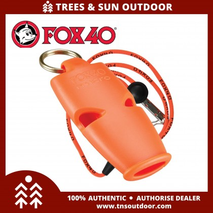 Fox 40 Micro Whistle 110 decibel Sleek and Loud Compact Pealess Survival Referee Whistle