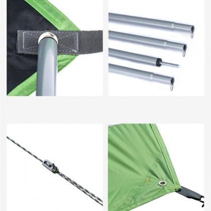 Naturehike Ultralight Polyester Sun Shade Tent Camping Tarp Canopy [Size L]