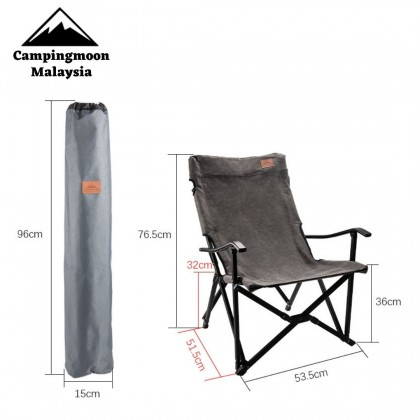 Campingmoon F-1003C Small Size Foldable Aluminium Alloy Camping High Back Rest Armchair