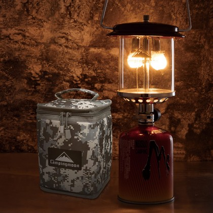 Campingmoon T8 Portable Bright Two Mantle Gas Lantern 140Lux